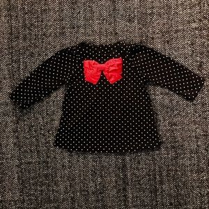 Carters polka dot long sleeved T-shirt size 6M